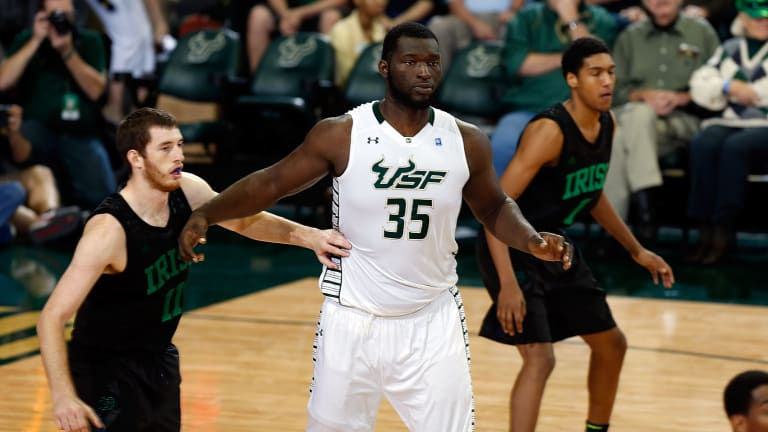 "7'3"" Former College Basketball Player Jordan Omogbehin Makes WWE Debut"