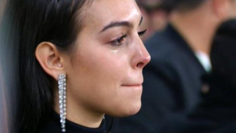 Georgina no pudo contener las lágrimas durante la goleada de la Juventus sobre el Atlético de Madrid