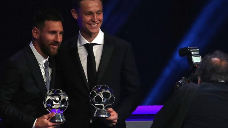Los elogios de Messi a De Jong en la gala de la Champions League