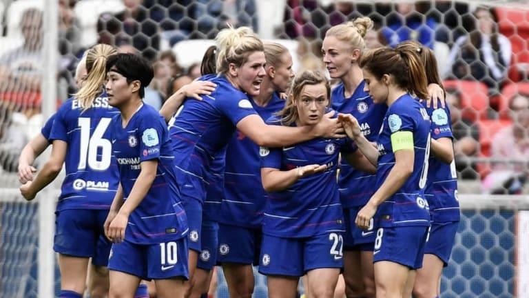 Chelsea Still Alive in Women's Champions League Semi Final After Erin Cuthbert Away Goal