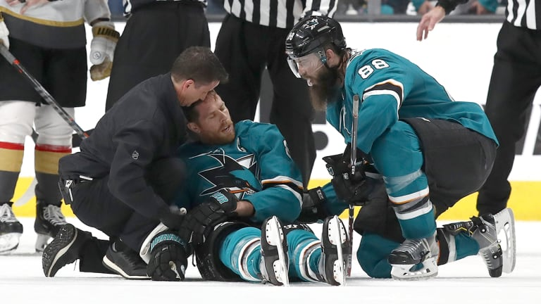 Sharks' Joe Pavelski Discusses Recovery, Says Play That Injured Him Wasn't a Major Penalty