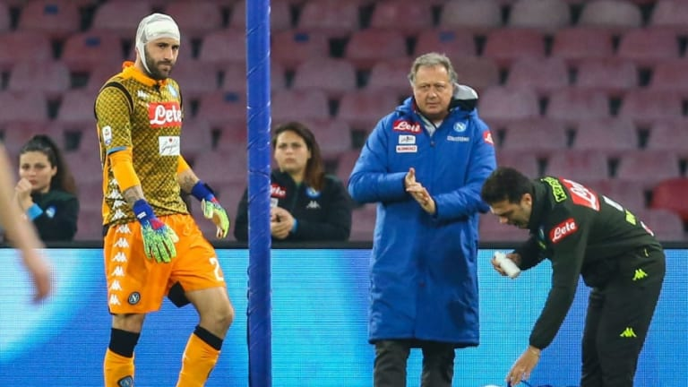 David Ospina Collapses During Napoli's Clash With Udinese After Sustaining Head Injury