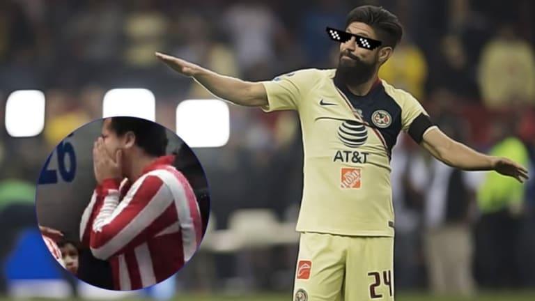 Oribe Peralta expone a Chiva-Hermanos apoyando al América