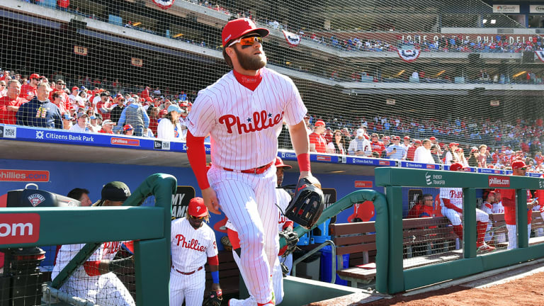 Watch: Bryce Harper Receives Standing Ovation in Phillies Debut