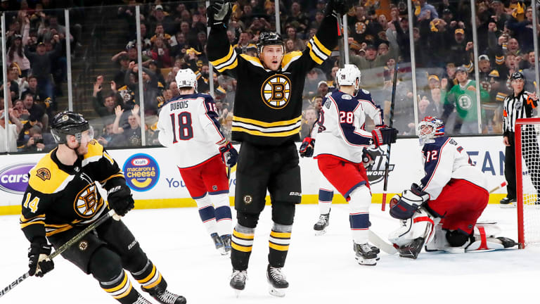 Blue Jackets Handed First Loss of Postseason as Bruins Take Game 1 in Overtime