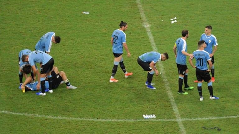 Luis Suárez falló el penalti que dejó a Uruguay fuera de la Copa América