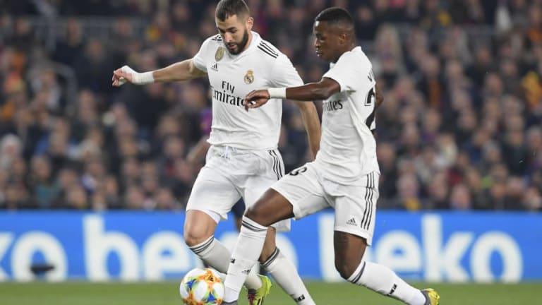 Vinícius está muy solo en el ataque del Real Madrid