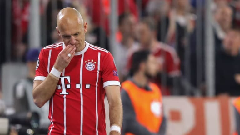 Arjen Robben Ruled Out of Bayern Munich's Champions League Clash Against Liverpool With Calf Injury