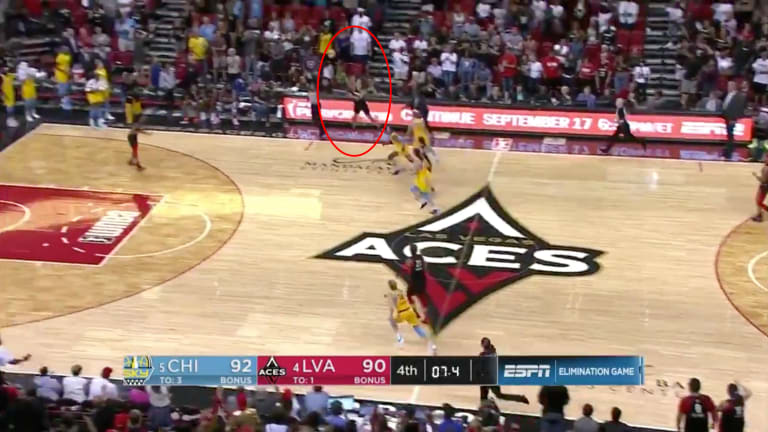 Dearica Hamby Drills Game-Winning Heave, Aces Beat Sky to Advance in WNBA Playoffs