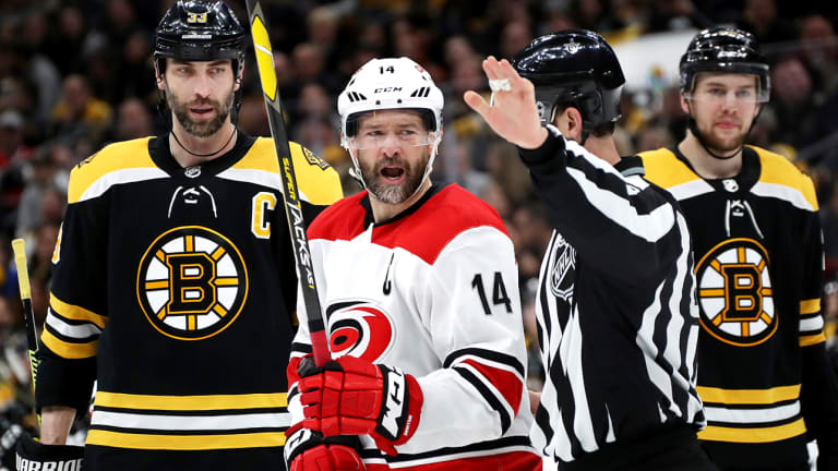 Carolina Captain Justin Williams Says Hurricanes 'Eat Poop Sandwich' in Blowout Loss to Bruins