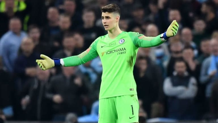 Twitter Reacts as Kepa Arrizabalaga Refuses to Be Substituted During Carabao Cup Final