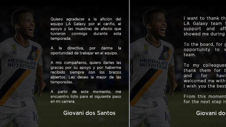 Giovani dos Santos se despidió de LA Galaxy con emotiva carta