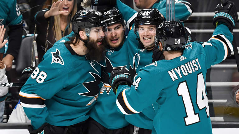 San Jose's Lethal Offense Carries Sharks to Game 1 Win Over Blues