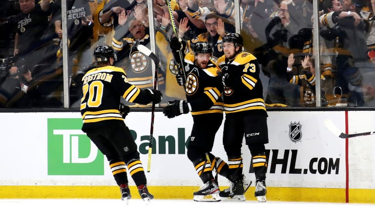 Bruins Bounce Back From Slow Start to Take Game 1 Against Blues