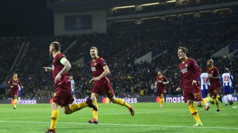 VÍDEO | Porto y Roma empatan 1-1 al descanso con goles de Tiquinho y De Rossi