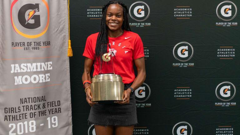 Jasmine Moore Wins Gatorade National Track and Field Athlete of the Year Award