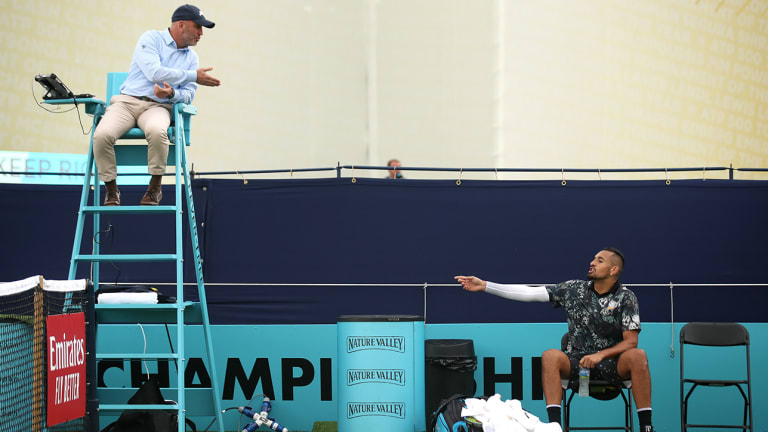 Nick Kyrgios Accuses Officials of 'Rigging' Match at Queen's Club