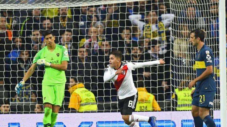 Quintero le respondió a Riquelme luego de su frase por el gol en la final de la Copa Libertadores