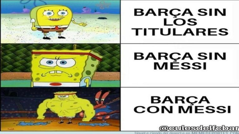 Los mejores 'memes' del empate a cero del Barça sin Messi, la titularidad de Boateng y más
