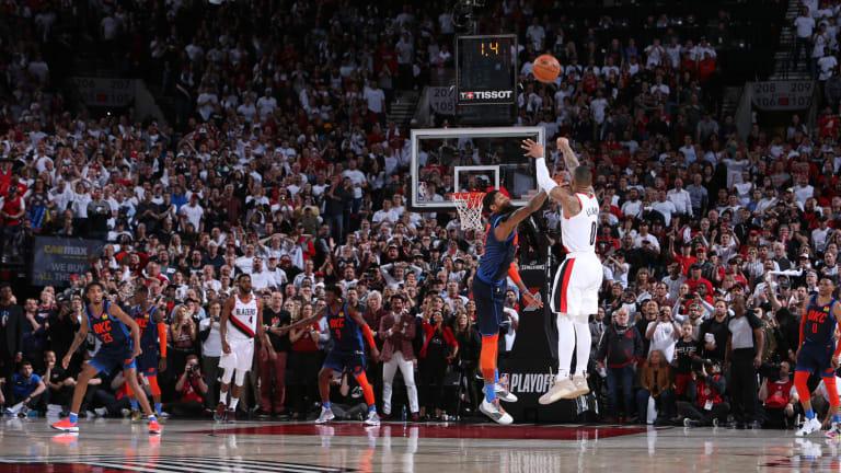 Watch: Damian Lillard Drills Epic Series-Winning Three-Pointer in Game 5 vs. Thunder