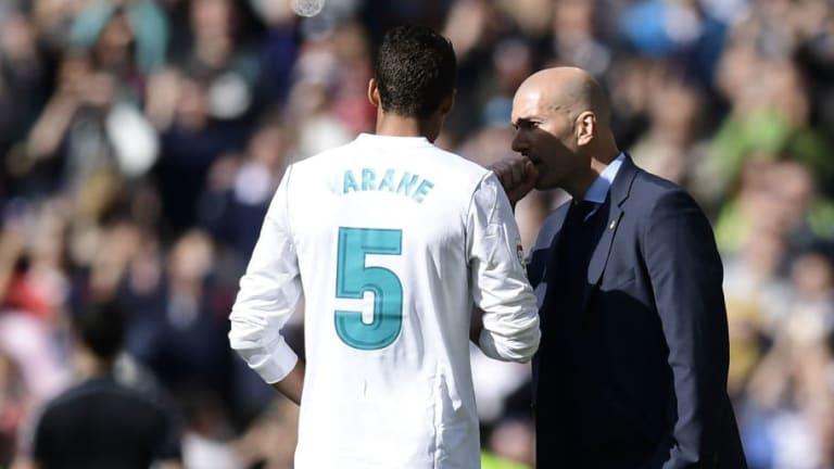 Zinedine Zidane Gives Update on Raphael Varane Future After Dismal Defeat to Rayo Vallecano