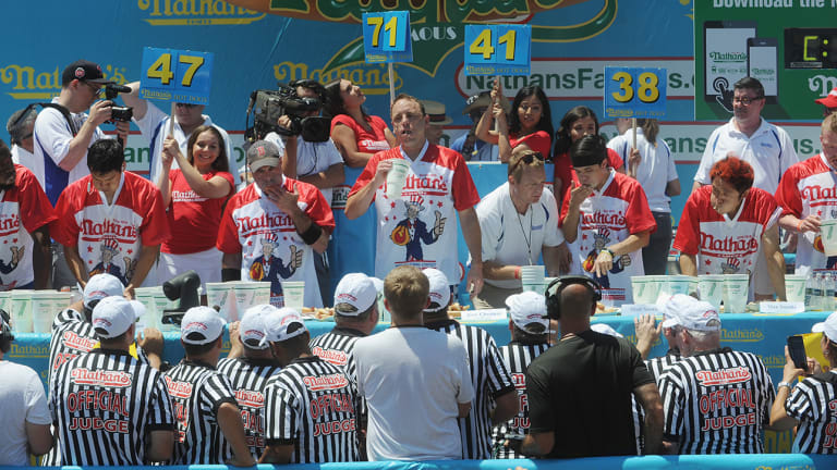 For Nathan's Hot Dog Eating Contest Judges, It's 'A Lot of Counting'