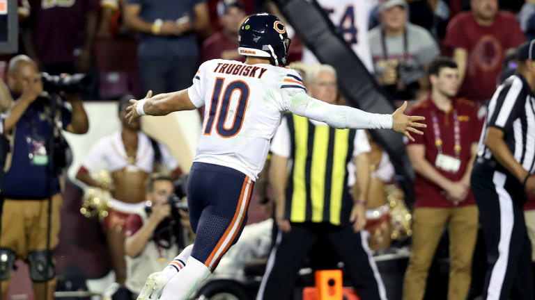 Mitchell Trubisky, Bears Find Offensive Groove in Dominant Win Over Redskins