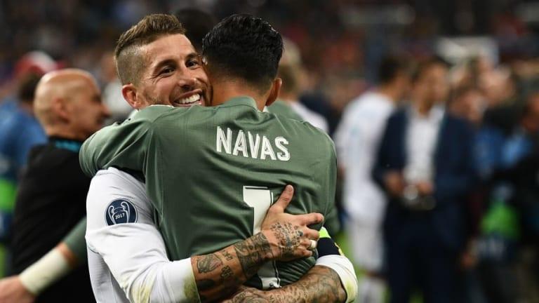 El guiño de Sergio Ramos a Keylor Navas tras la victoria ante el Celta de Vigo