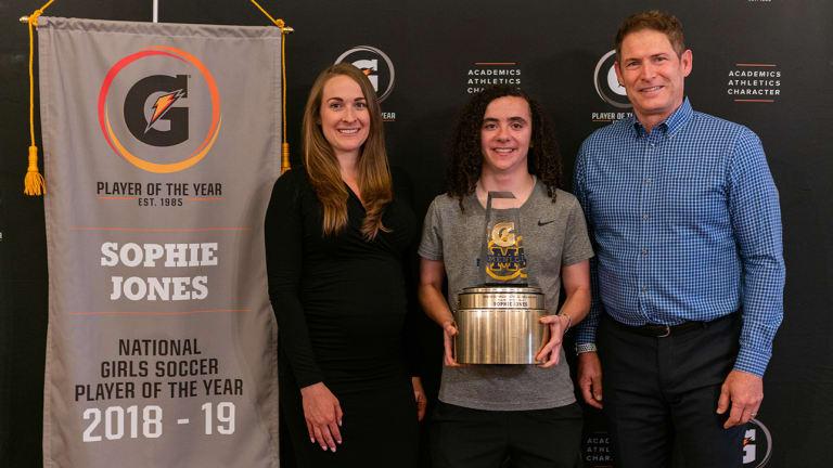 Sophie Jones Named Gatorade National High School Girls Soccer Player of the Year