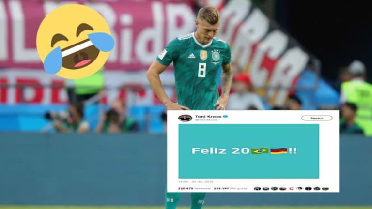 Medio brasileño le devuelve a Kroos la broma del 1-7 tras el descalabro alemán