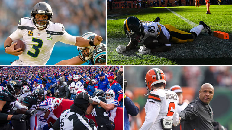 Week 12 Takeaways: Seahawks Get It Done, Steelers Give One Away, Bills and Jags Brawl, Hue Jackson's Latest Humiliation