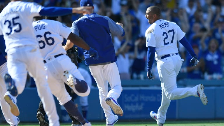 Watch: Matt Kemp Hits Walk-Off Double to Push Dodgers Into First Place