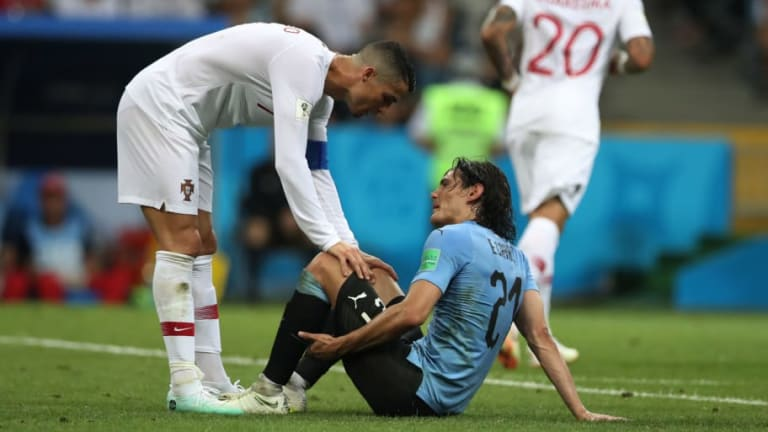Cavani Injury Update Offers Mixed News for Uruguay Fans Ahead of France Quarter Final Clash