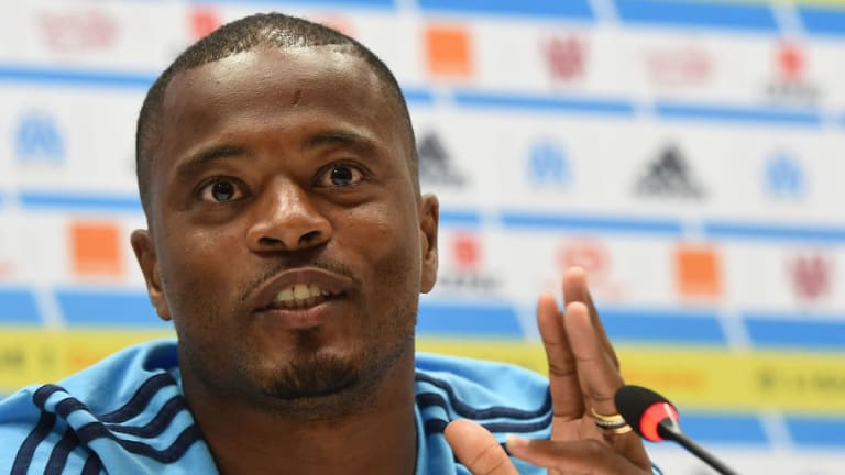 Patrice Evra Seen at West Ham's Training Ground Ahead of Expected Free Transfer