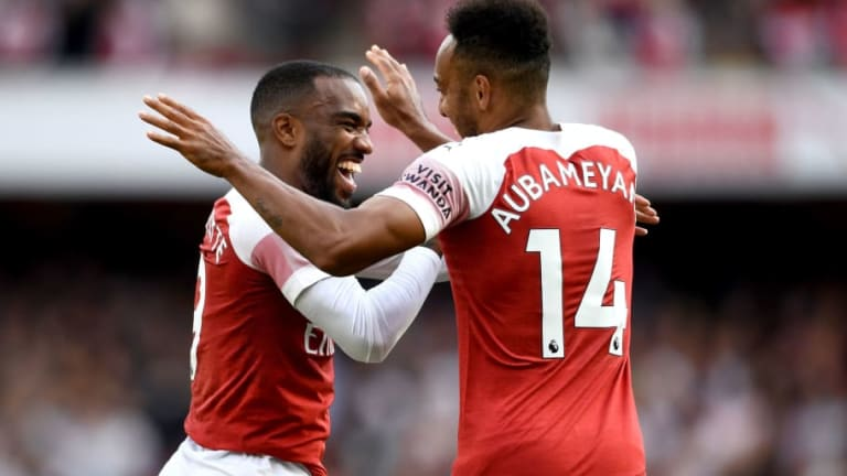Ian Wright Urges Arsenal Boss Unai Emery to Keep Playing Lacazette and Aubameyang Together