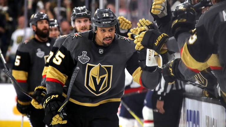 Ryan Reaves Bolstering Golden Knights' Fourth Line With Smarter Play