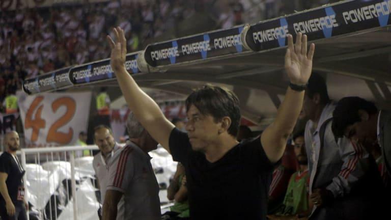 Marcelo Gallardo sorprendió con el equipo que paró en la práctica para enfrentar a Lanús