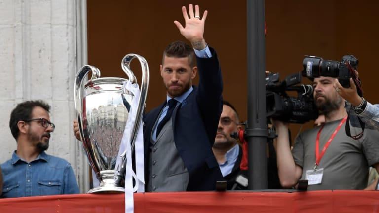Los recados de Sergio Ramos y Theo al Atlético de Madrid en la celebración en Cibeles