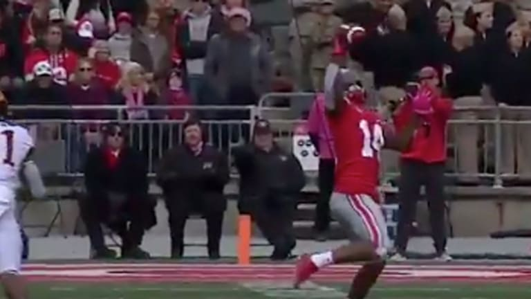 Watch: Ohio State WR K.J. Hill Snags One-Handed Catch for Touchdown