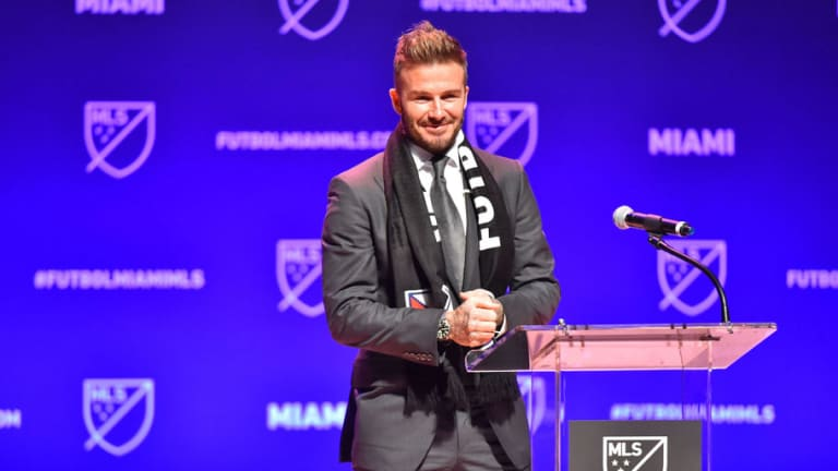 David Beckham Hails 'Astonishing' Alexis Sanchez Capture at Launch of His New MLS Franchise