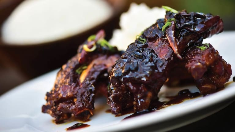 Black Beans Ribs with Green Onion