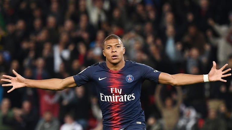 Watch: PSG's Kylian Mbappe Scores Four Goals in 13 Minutes Against Lyon