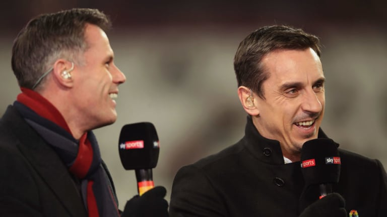 Gary Neville Takes Dig at Jamie Carragher on Social Media Before Liverpool Legends Game