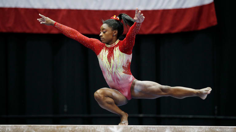 Simone Biles Places First in U.S. Classic in First Return to Competition Since Rio Olympics