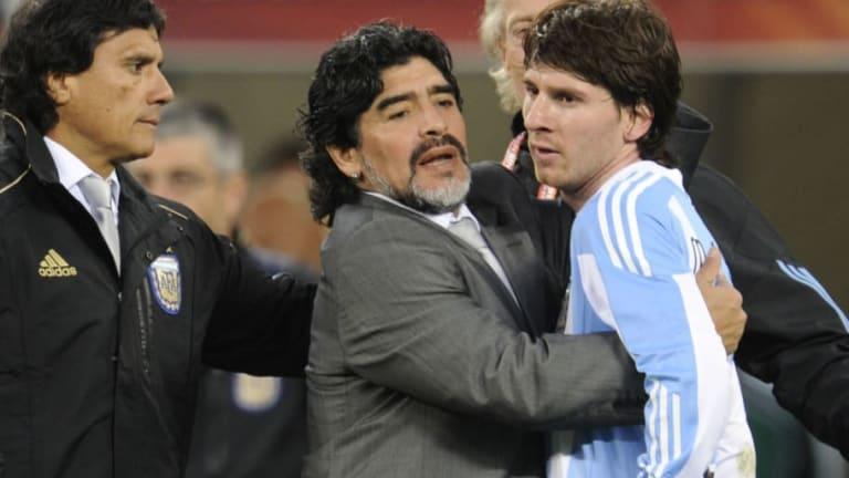 Maradona reveló un imperdible detalle secreto de Messi en Sudáfrica 2010