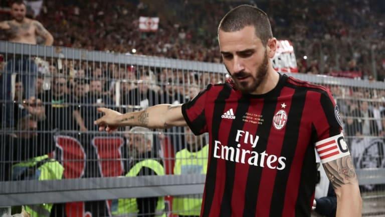 AC Milan Captain Leonardo Bonucci Reportedly Set to Complete Shock Move to Paris Saint-Germain
