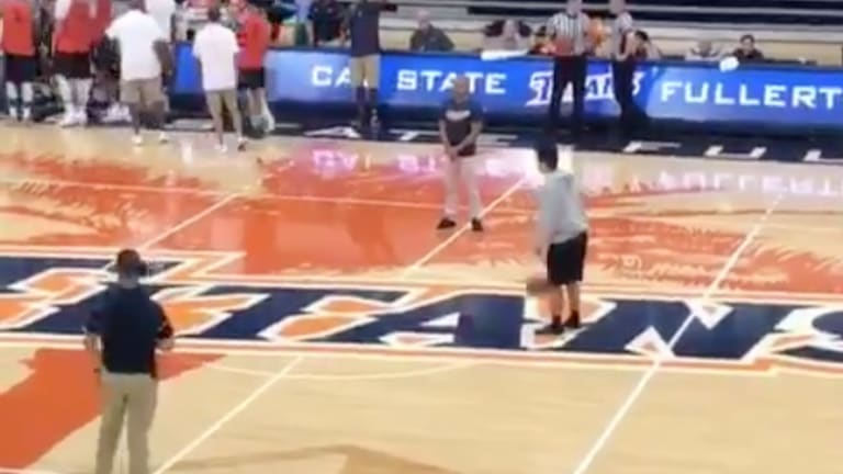Watch: Cal State Fullerton Fan Sinks Half-Court Shot to Win Free In-N-Out for One Year