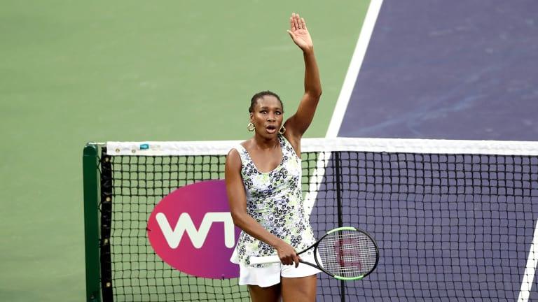 Venus Williams and No. 1-Ranked Simona Halep Advance at Indian Wells