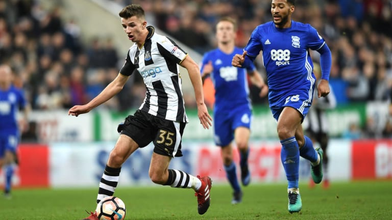 Young Newcastle Midfielder Dan Barlaser Striving for First Team Call Up