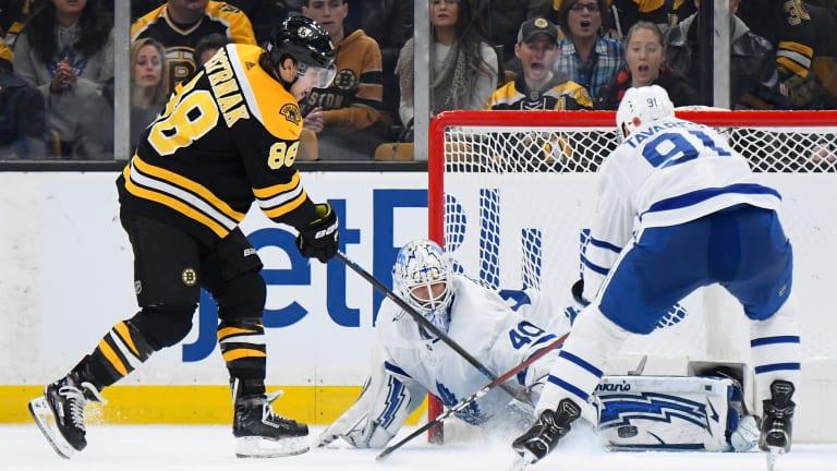 David Pastrnak's Hat Trick Leads Bruins Past Maple Leafs